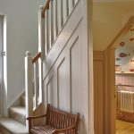 Farm house stairs and cloakroom